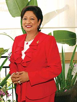 UNC Political Leader: The Honourable Kamla Persad-Bissessar