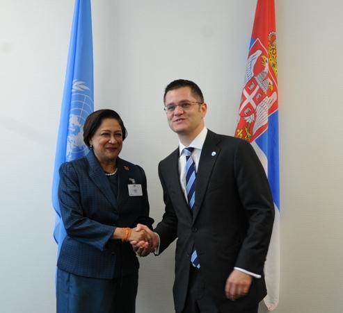 Prime Minister greets UN General Assembly President Vuk Jeremić
