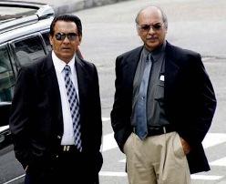 Businessmen Ishwar Galbaransingh and Steve Ferguson