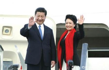 President and First Lady: Chinese President Xi Jinping and his wife First Lady Peng Liyuan arrive today for a two-day State visit.
