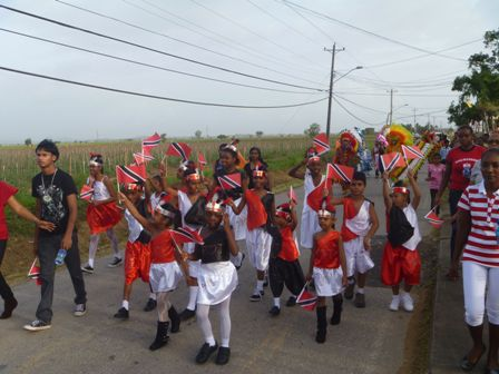 Orange Valley youths came out in their numbers to participate in Independence Celebrations on Saturday