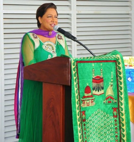 """PM Kamla Persad-Bissessar """"We must continually strive to always do what is right for ourselves, our neighbour,  and our community on our onward journey to enhanced spirituality."""""""