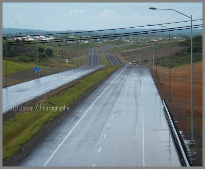 The Golconda to Debe section of the Point Fortin Highway. Facing south.