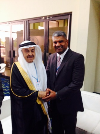 AG and Mohammed Bin Abdullah Al-Shareef, President of the National Anti-Corruption Commission, Kingdom of Saudi Arabia at the Conference for State Parties for United Nations Convention against Corruption.