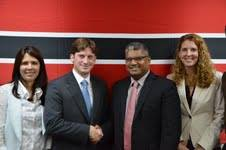 From left to Right: Mariela Bondar, (Argentina), Pedro Pirán, (Argentina), Attorney General, Anand Ramlogan, Candice Welsh (UNODC)