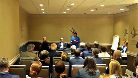 Prime Minister Kamla Persad Bissessar at the Clinton Global Initiative