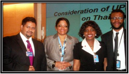From Right: Ian Rampersad, Therese Baptiste –Cornelis, Merlana Henry and Justin Sobion