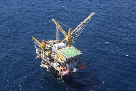 BG T&T Dolphin Platform (photo courtesy Ministry of Energy and Energy Affairs)