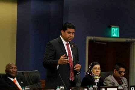Energy and Energy Affairs Minister the Hon. Kevin Ramnarine , Photo courtesy Office of the Parliament.