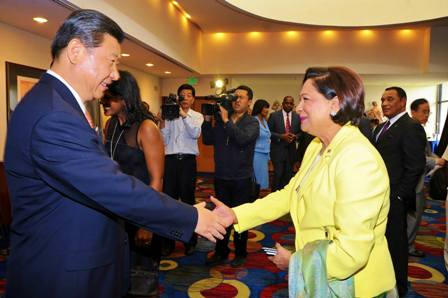 At His Excellency Xi Jinping, President of the People's Republic of China farewell luncheon following a meeting between the Chinese leader and his delegation and Heads of several of CARICOM states which have diplomatic relations with China. — at Hilton Trinidad & Conference Centre.