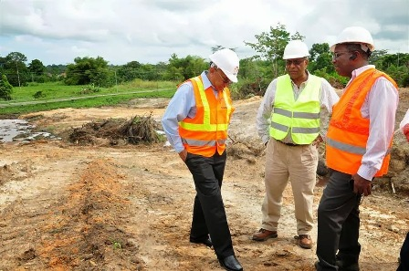 Works Minister Dr Suruj Rambachan visis the Point Fortin worksite for the highway