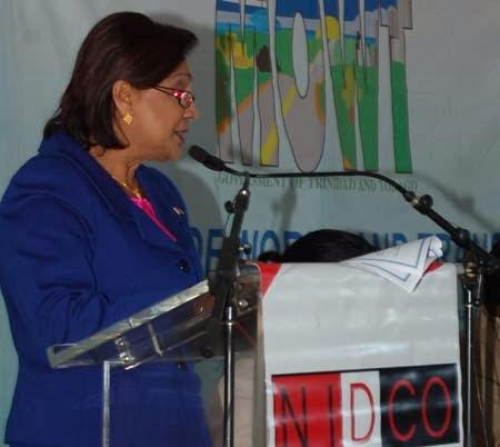 PM Kamla Persad-Bissessar at launch of highway project - January 26, 2011