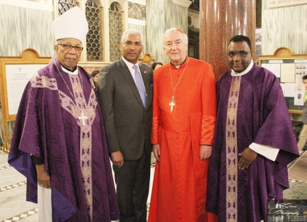 Archbishop Harris, HC Nicholas, Cardinal Nichols, Father Pierre colour