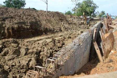 infurstructural works at Mohess rd.Debe