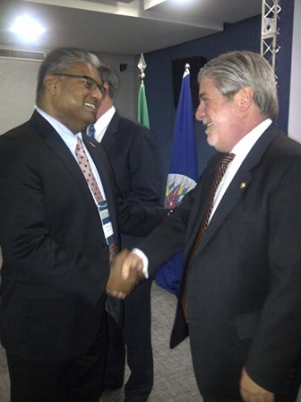AG and Mr. Jean Michel Arrighi, Secretary for Legal Affairs, Representative of the OAS Secretary General