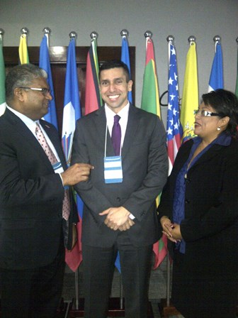 AG with Mr. Luis Marcelo Azevedo, Legal Officer in the OAS and Mrs. Iran Tillett-Dominguez, Deputy Solicitor General for International Affairs, Belize