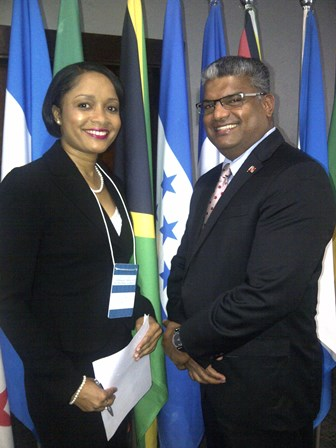 AG with Sanchia Burrell, Deputy DPP of Jamaica