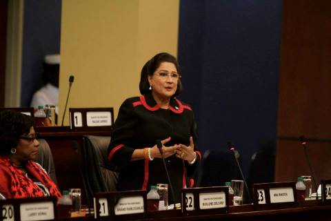 Former Prime Minister of the Republic of Trinidad and Tobago, Hon. Kamla Persad-Bissessar, SC, MP Photo Courtesy: Office the Parliament.