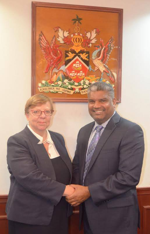Attorney General Anand Ramlogan SC and DPP for the United Kingdom Ms Alison Saunders