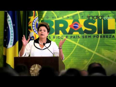 Kamla Persad-Bissessar , Dilma Rousseff on her re-election