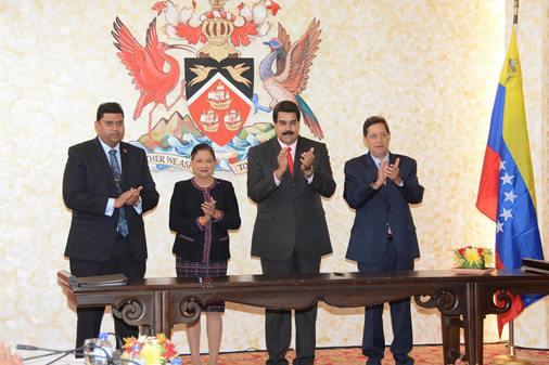 President Nicholas Maduro PM Kamla