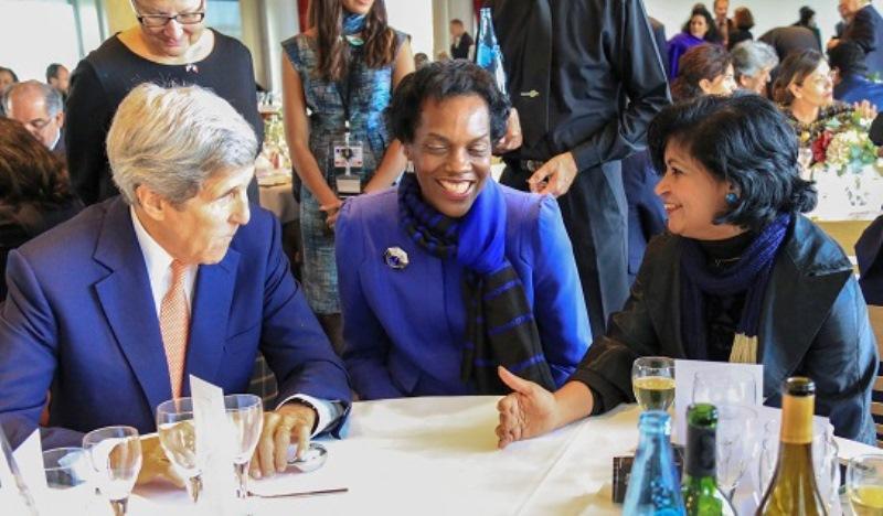 US-Sec-of-State-John-Kerry-Cynthia-Nix-hines-Dr-Kris-Rampersad-at-UNESCO