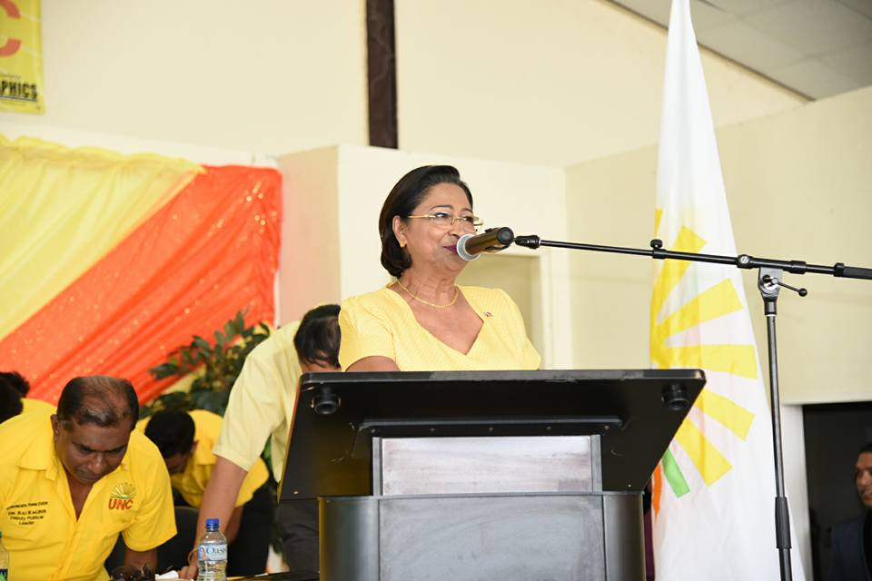 The Honourable Kamla Persad-Bissessar, SC, MP, Political Leader of the United National Congress (UNC) & Leader of the Opposition of the Republic of Trinidad and Tobago