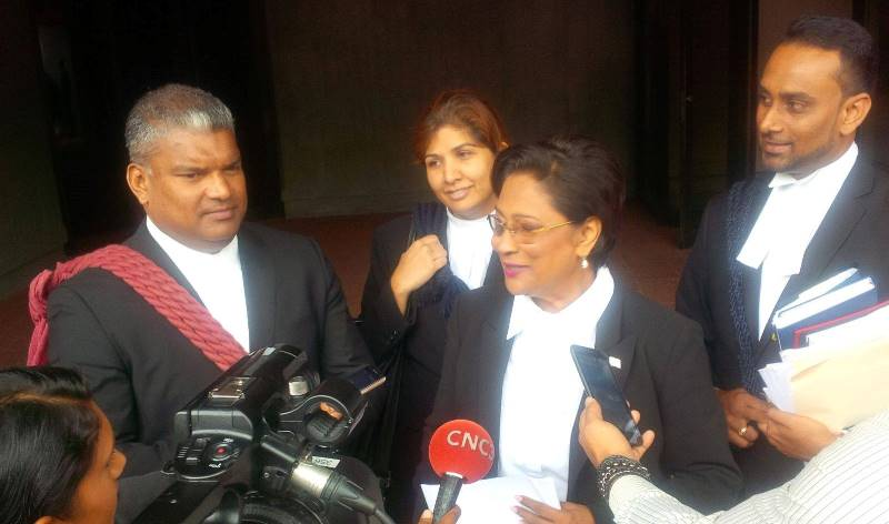 the Honourable Kamla Persad Bissessar S.C. and former Attorney General Anand Ramlogan S.C.