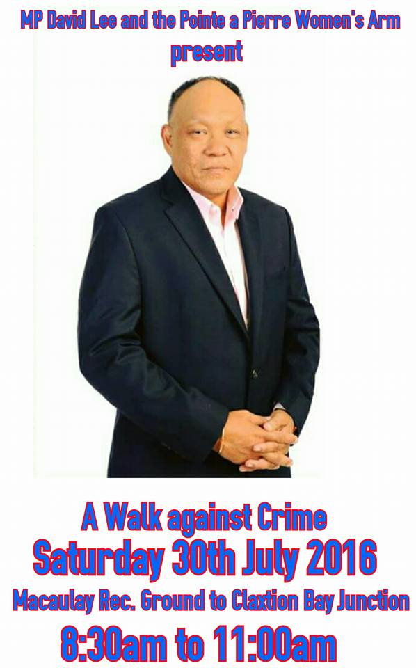 Lee walk against crime