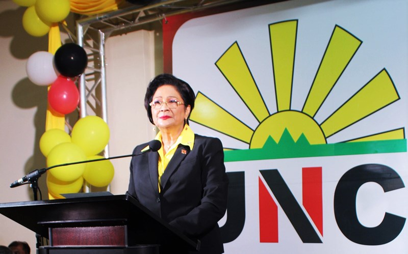 Honourable Kamla Persad-Bissessar at the opening of New UNC Headquarters