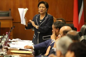 The Leader of the Opposition, Hon. Kamla Persad-Bissessar, SC, MP, j Image Courtesy: Office of the Parliament.