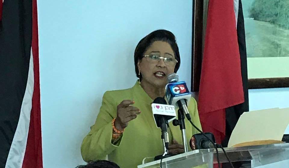 Leader of the Opposition, Kamla Persad-Bissessar, SC, MP,