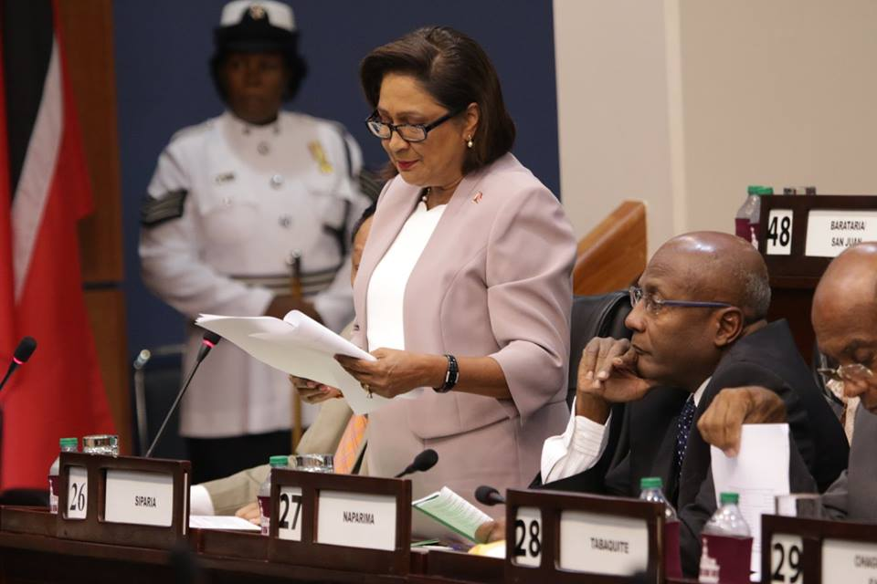 Opposition Leader and Member of Parliament for Siparia, Hon. Kamla Persad Bissessar, SC, MP, Image: Office of the Parliament.