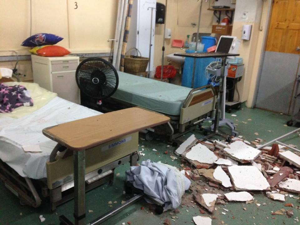 SAN FERNANDO HOSPITAL COLLAPSES